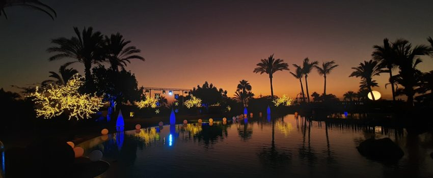 lighting decoration pool hotel night - iluminacion decoracion piscina hotel noche